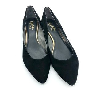 Seychelles Black Faux Suede Pointed Flats